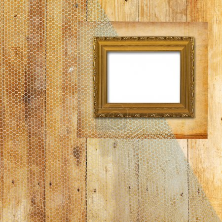 Old room, grunge interior with frames in style baroque