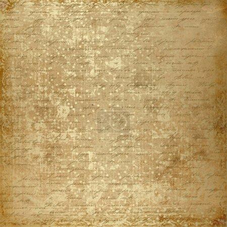 Photo pour Grunge vieux papier design dans le style scrapbooking avec écriture - image libre de droit