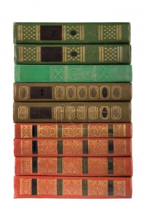 Old antique books on the white isolated background