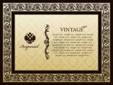 Imperial ornament framework decorative vintage
