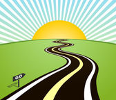 Road horizon to sun