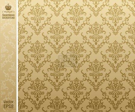 Illustration for Seamless backgroung vintage beige. vector illustration - Royalty Free Image