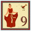 The 12 Days of Christmas - 9-th Day - Nine ladies ...