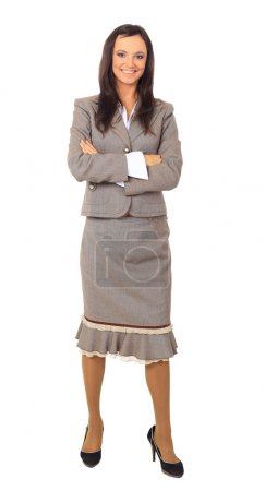 Photo for Isolated full-body portrait of a beautiful business woman - Royalty Free Image