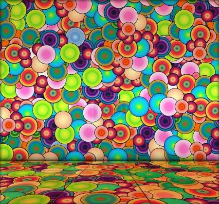 Photo pour Une pièce dynamique créative de bulles multicolores comme arrière-plan - image libre de droit