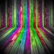 A multicolored wooden room as a background...