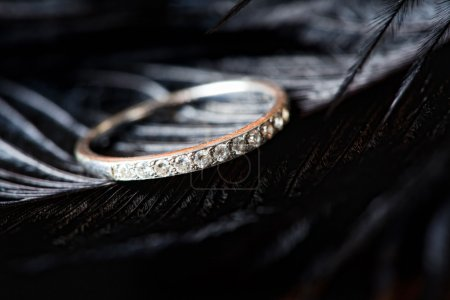 Diamond ring from white gold o