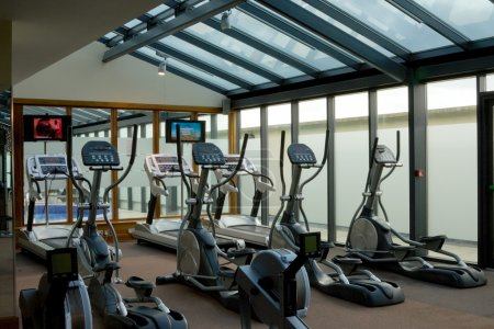 Gym with jogging simulators