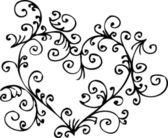 Romantic Floral Refined vignette 4 Eau-forte black-and-white decorative background texture pattern vector illustration EPS-8