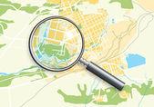 Mapa geo města a zoomem