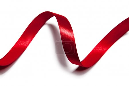 Photo for Image of red ribbon on white background - Royalty Free Image