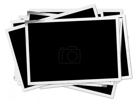 Photo for Many old photos on white background - Royalty Free Image