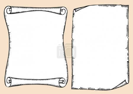 Illustration for Vector old scroll for text - Royalty Free Image