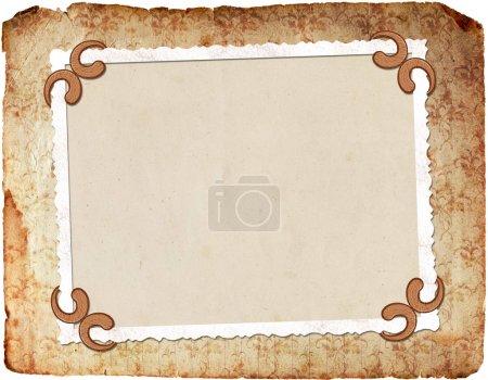 Photo pour Cadre pour photo ou invitation - image libre de droit