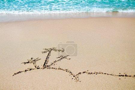 Photo pour Îlot Palm - photo sur la plage de sable fin - image libre de droit