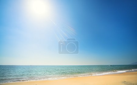 Photo for Sunny beach, blue ocean and clean sky - Royalty Free Image