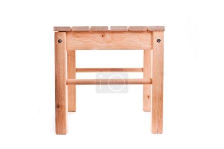 Photo pour Tabouret en bois vintage isolé sur fond blanc - image libre de droit