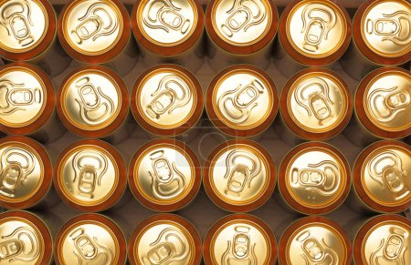 Much of yellow drink cans