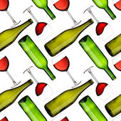 Palackok és poharak zökkenőmentes minta