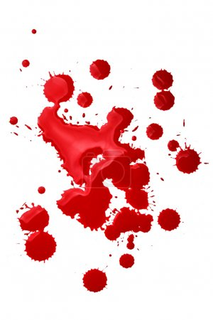 Photo for Blood splatters isolated over the white background - Royalty Free Image