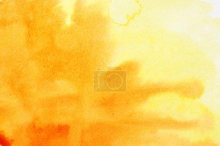Foto de Trazos de pincel acuarela naranja, puede ser utilizado como fondo - Imagen libre de derechos