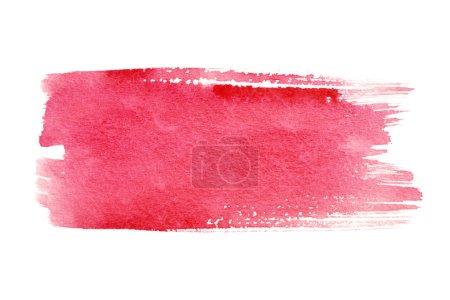Photo pour Coups de pinceau aquarelle rouge avec un espace pour votre propre texte - image libre de droit