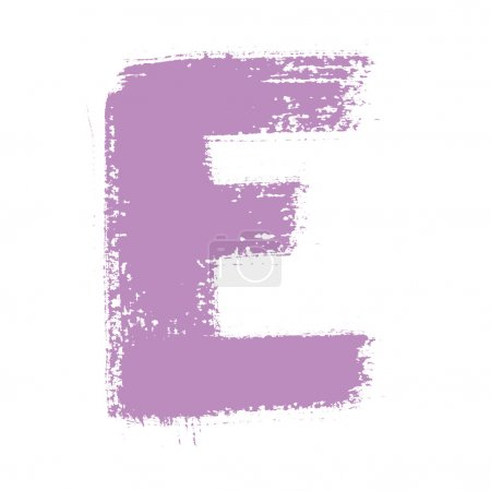 Photo for E - Colorful alphabet isolated over the white background - Royalty Free Image