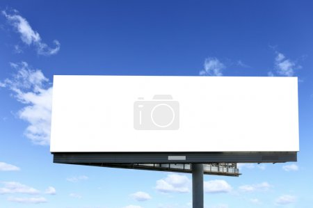Photo for Blank billboard against blue sky, put your own text here - Royalty Free Image