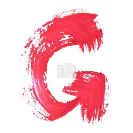 Red handwritten letters