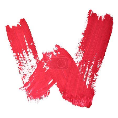 rote handgeschriebene Buchstaben