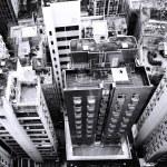 District at Hong Kong, view from skyscraper. Black...