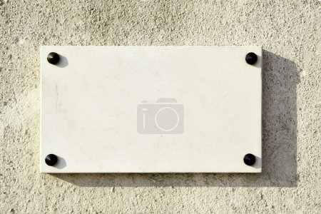 Blank marble signboard