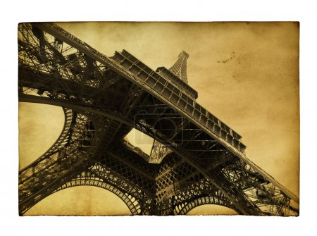 Carte postale avec towe Eiffel