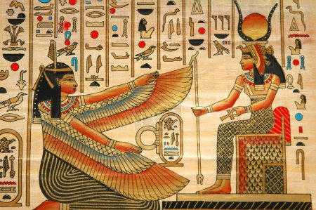 Papyrus with elements of egyptian ancient history...