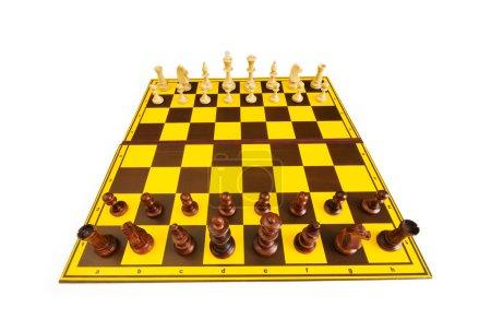 Photo pour Chiffres d'échecs isolés sur le fond blanc - image libre de droit
