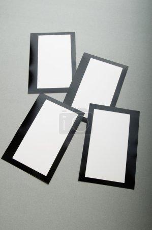 Photo pour Concept concepteur - cadres vierges pour vos photos - image libre de droit