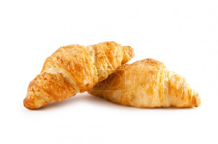 Photo for Breakfast concept - croissant isolated on white - Royalty Free Image