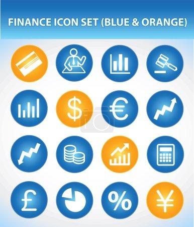 Finance Icon Set (Blue & Orange)