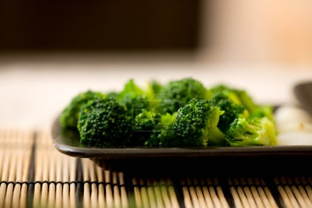 Photo for Broccoli. Freshly cut vegetables prepared for cooking - Royalty Free Image