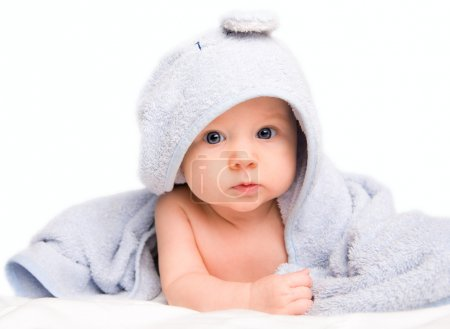 Baby in bath towel