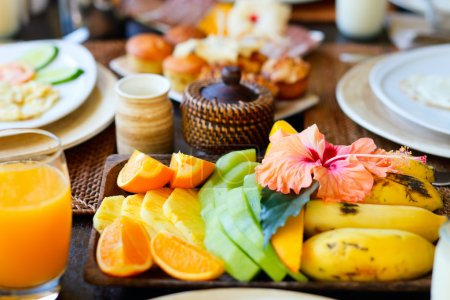 Delicious fruits for breakfast