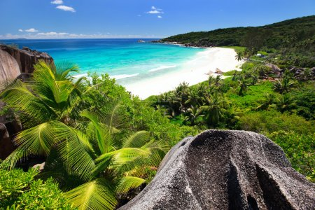 Grand Anse on La Digue island in Seychelles