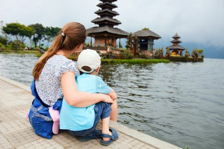 Mother and son in Bali
