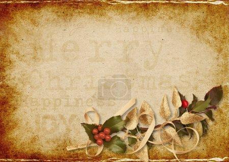 Photo pour Fond de Noël vintage avec espace pour texte ou photo pour un grand bravo donc à la fête - image libre de droit