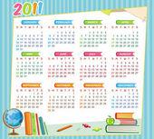 2011 colorful educational calendar