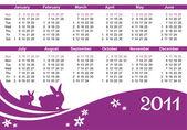 2011 calendar (starts Sunday)