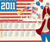 USA calendar for 2011
