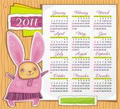 Rabbit calendar 2011