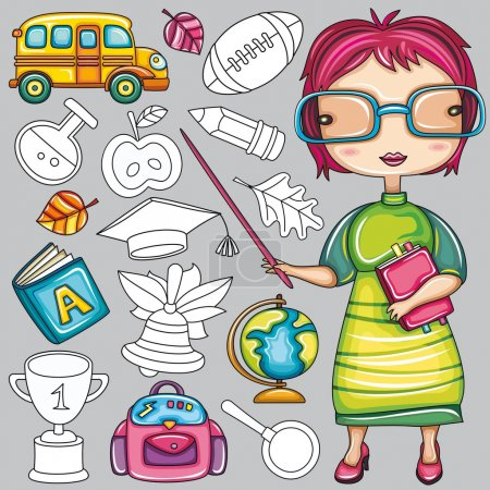 School icons series