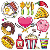 Set of ready to eat food icons 2